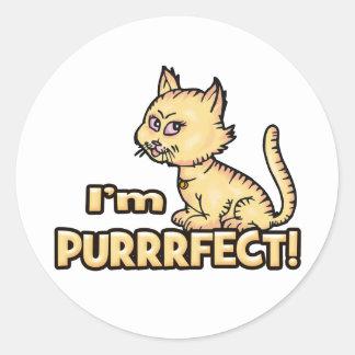 I'm Purrrfect Classic Round Sticker