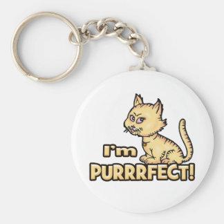 I'm Purrrfect Key Chains