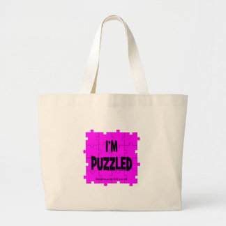 I'M PUZZLED - LOVE TO BE ME LARGE TOTE BAG