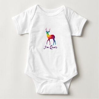 I'm Queer Funny LGBT Rainbow Gay Pride Gift Baby Bodysuit