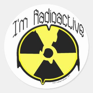 I'm Radioactive Round Stickers