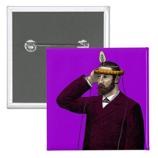 I'm Reading Your Mind - Vintage Illustration 2 Inch Square Button