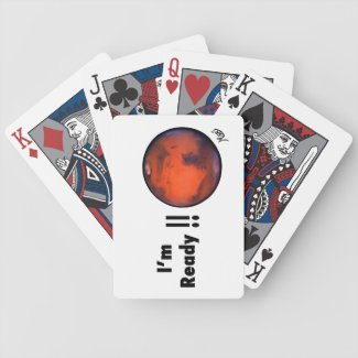 """i'm Ready"" Mars Playing Cards"