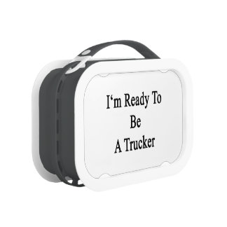I'm Ready To Be A Trucker Replacement Plate