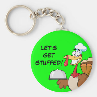 I'm Ready to Eat Thanksgiving Dinner Basic Round Button Keychain