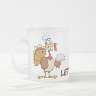 I'm Ready to Eat Thanksgiving Dinner Frosted Glass Coffee Mug