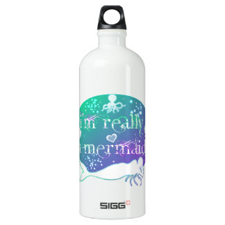 I'm really a mermaid aluminum water bottle