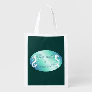 I'm really a mermaid grocery bag