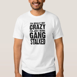 I'm really not crazy, I'm just being gangstalked T Shirt