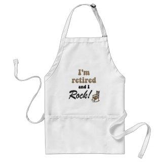 I'm retired and I rock! Adult Apron