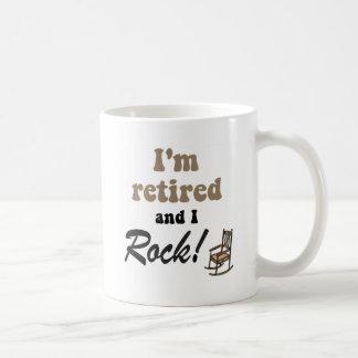 I'm retired and I rock! Classic White Coffee Mug