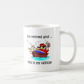 I'm retired and this is my office! coffee mug