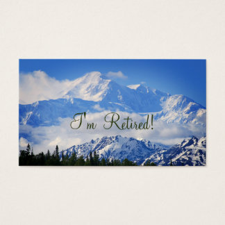 I'm Retired!  Lovely Denali Contact Info Template Business Card