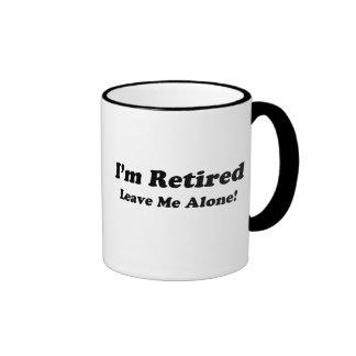 I'm Retired Ringer Coffee Mug