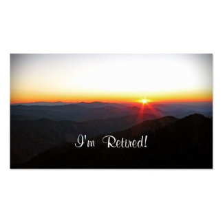 I'm Retired!  New Contact Info Custom Template Pack Of Standard Business Cards