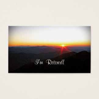 I'm Retired!  New Contact Info Custom Template Business Card