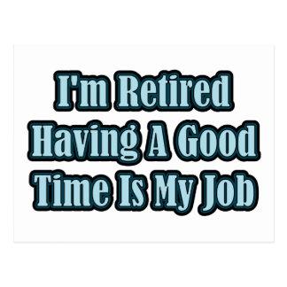 I'm Retired Postcard