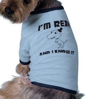 I'm Rexy And I Know It Doggie Tshirt