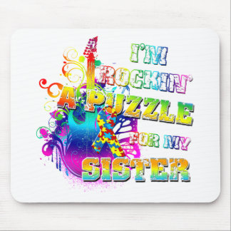 I'm Rockin' A Puzzle for my Sister Mouse Pad