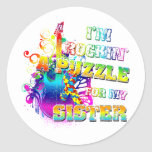 I'm Rockin' A Puzzle for my Sister Sticker