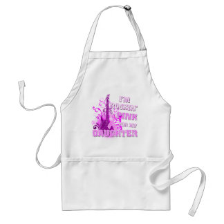 I'm Rockin' Pink for my Daughter Adult Apron