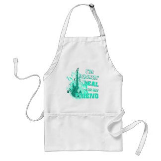 I'm Rockin' Teal for my Friend.png Adult Apron
