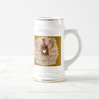 I'm rootin for you! 18 oz beer stein