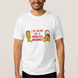 I'm sane in a parallel universe funny tee shirt