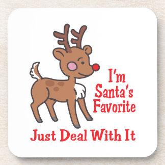 I'm Santa's Favorite Beverage Coaster