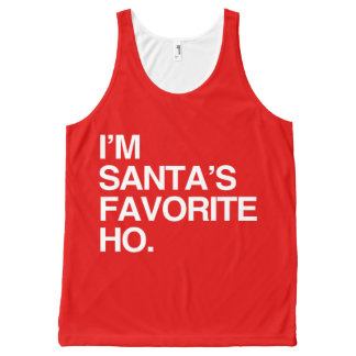 I'M SANTA'S FAVORITE HO -.png All-Over-Print Tank Top
