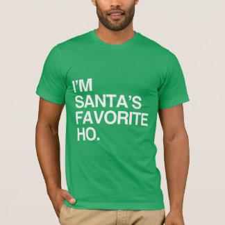 I'M SANTA'S FAVORITE HO -.png T-Shirt