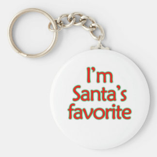 I'm Santa's Favorite Keychain