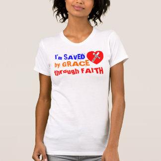 I'm SAVED by GRACE through FAITH - jesús Saves Playeras