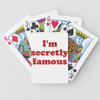 Im secretamente famoso cartas de juego