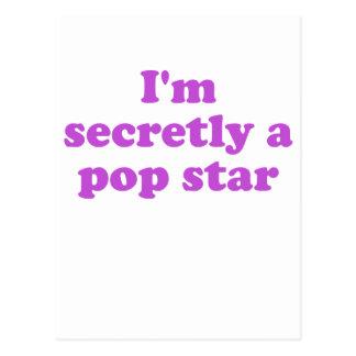 Im secretamente un estrella del pop tarjeta postal