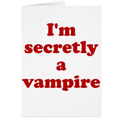 Im secretamente un vampiro felicitacion