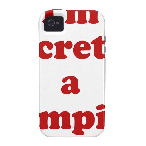 Im secretamente un vampiro iPhone 4 fundas