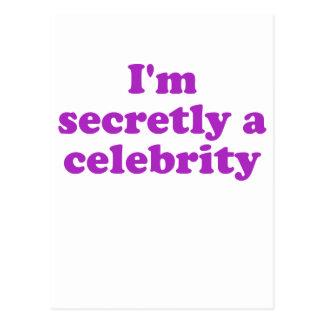 Im secretamente una celebridad postal