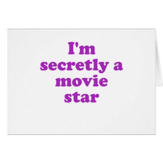 Im secretamente una estrella de cine tarjeta de felicitación