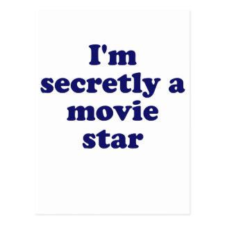 Im secretamente una estrella de cine postal