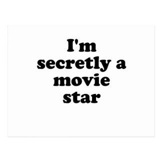Im secretamente una estrella de cine tarjeta postal