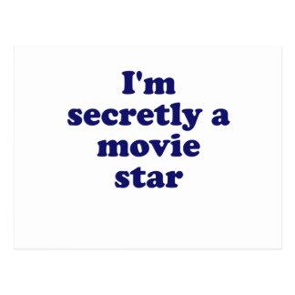 Im secretamente una estrella de cine tarjetas postales