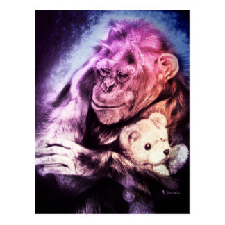 I'm sending you some kisses... Chimpanzee Card
