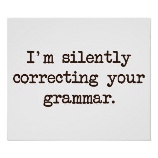 I'm Silently Correcting Your Grammar. Posters