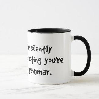I'm Silently Correcting Your Grammar Wise Owl Mug