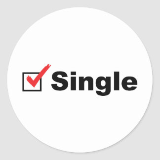 I'm Single And Available Classic Round Sticker