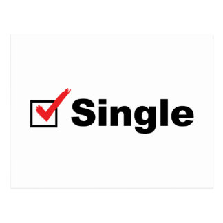 I'm Single And Available Postcard