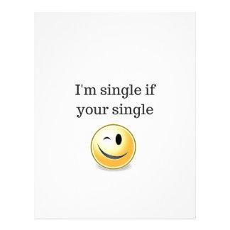 Im single if your single - funny flirting wink letterhead