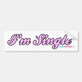 Im Single Pink Bumper Sticker