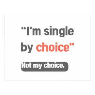 I'm Single Postcard